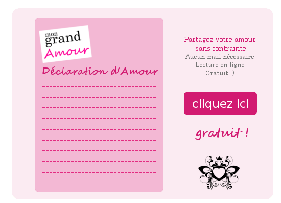 generateur declaration amour, mon grand amour